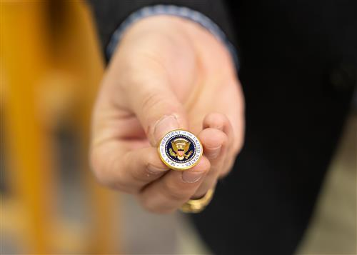 A lapel gifted by President George H.W. Bush