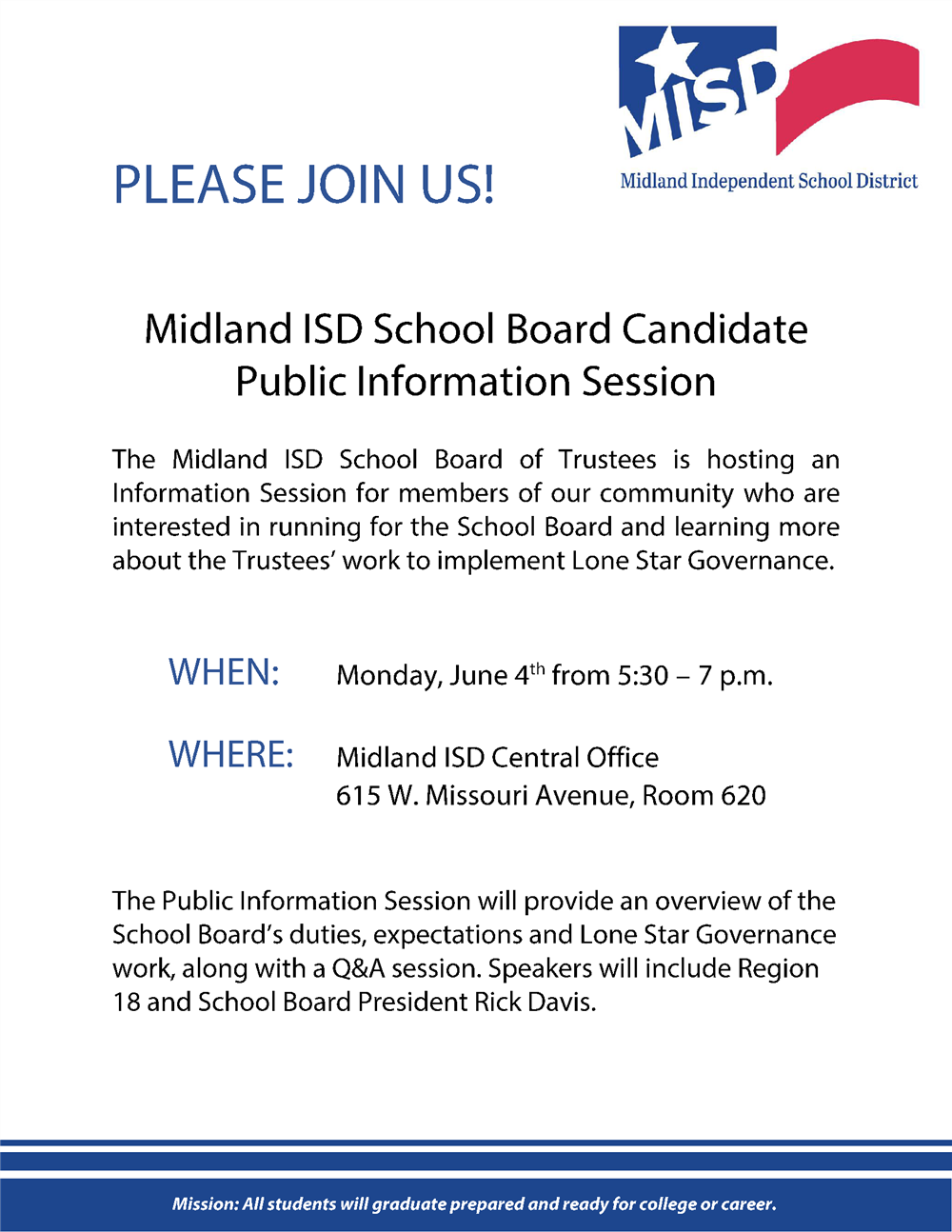 School Board Candidate Public Information Session