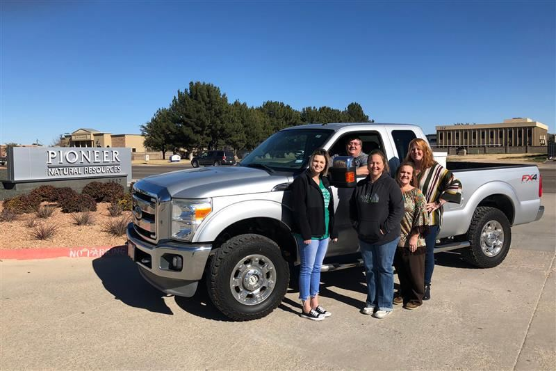 Pioneer Natural Resources donates truck to CTE