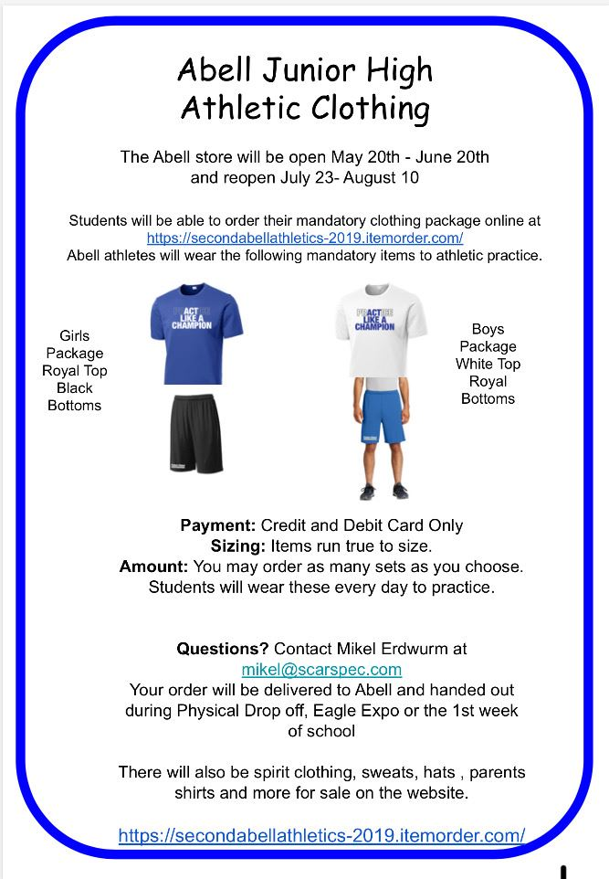Athletic Gear and Spirit Wear- New Online Store