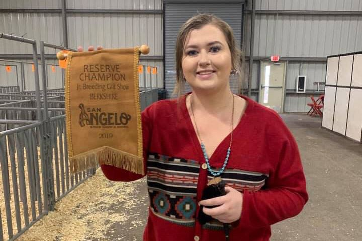 Lee student wins Reserve Champion in San Angelo