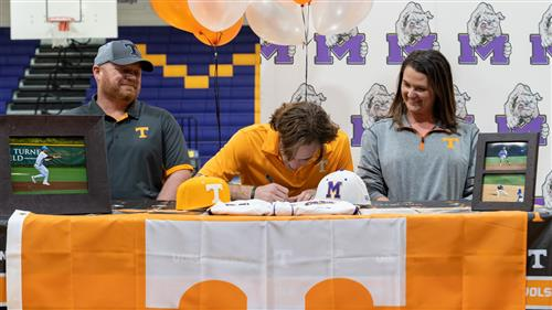 Midland High's Tyler Wade signs his letter of intent to play baseball for the University of Tennessee.