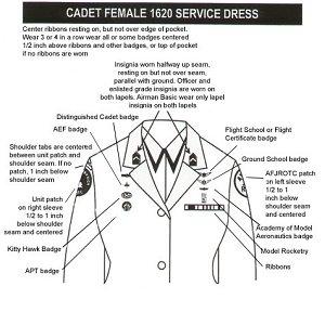 Cadet Female 1620 Service Dress