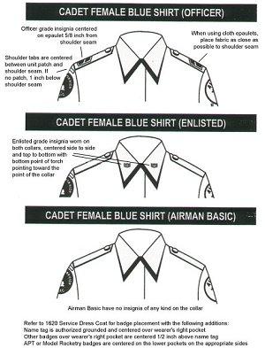 Cadet Female Blue Shirt