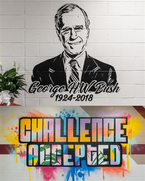 Murals at Bush Elementary