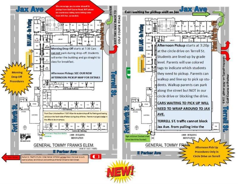 Updated Pickup & Drop Off Maps & Procedures