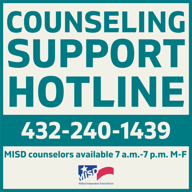 MISD Counseling Support Hotline During COVID19