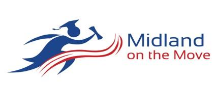 Midland on the move logo