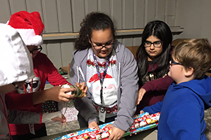 Parker Chiefs perform community outreach during Christmas season