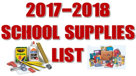 Click here to view the 2017-2018 School Supply List